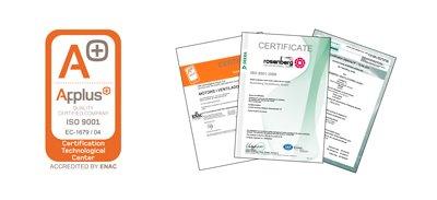 airtenics iso 9001 certificado applus