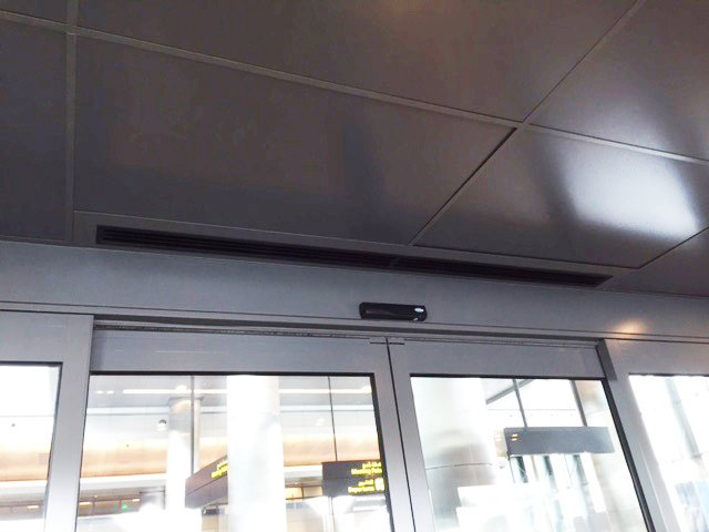 Aeroport de Qatar cortina d'aire Windbox