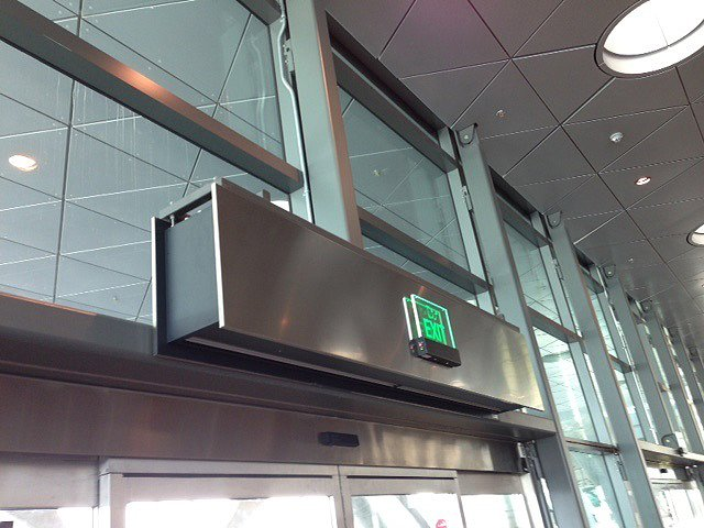 Qatar airport ZEN air curtain
