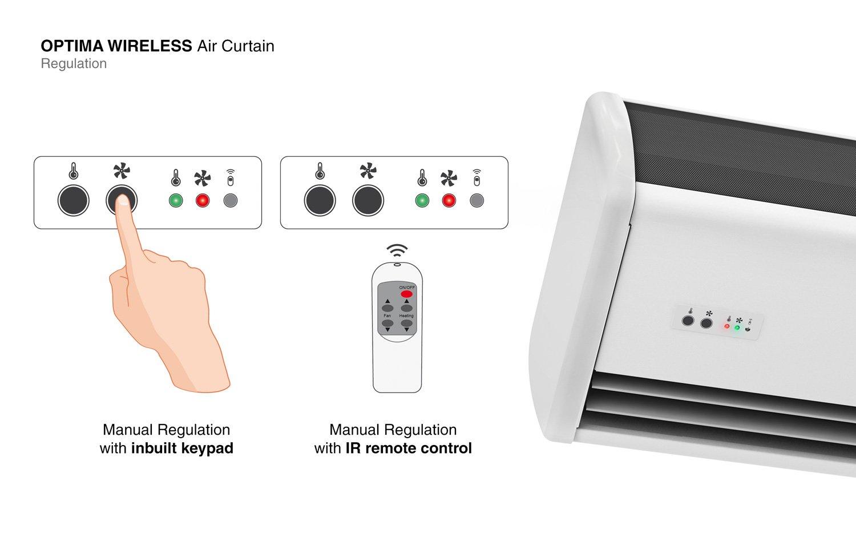 airtecnics air curtain optima wireless
