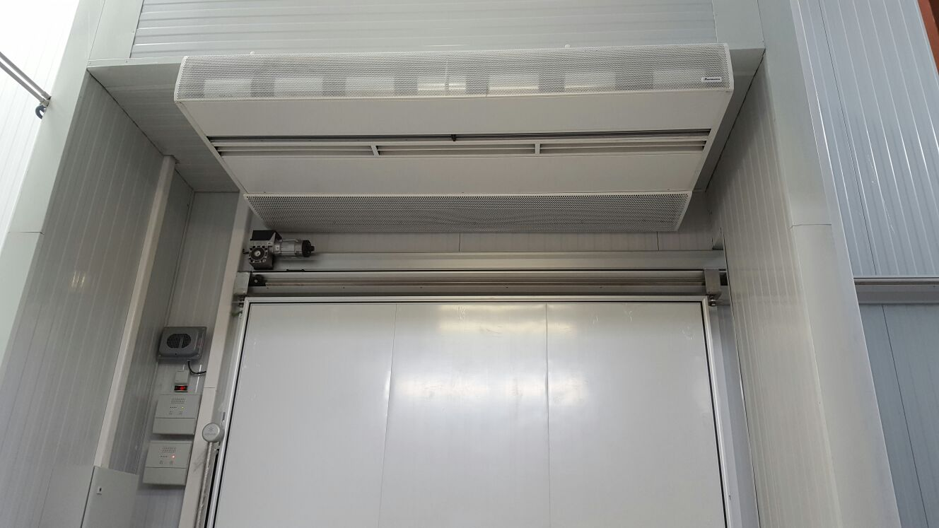 air curtain application cold storage