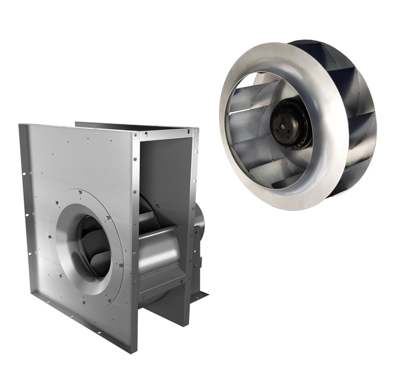 centrifugal fans backward curved impellers